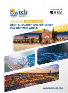 ECIS 2020 - Liberty, Equality, and Fraternity in a Digitizing World, HEM Business School, Juin 2020