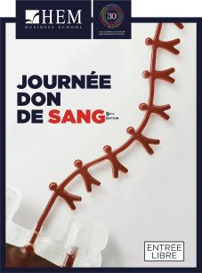 Journée Don du Sang - Année Universitaire 2018/2019, HEM Business School, Octobre 2018