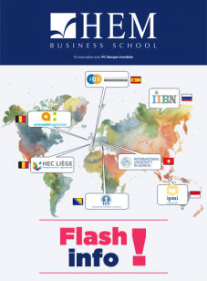Flash Info International : HEM à la conquête du monde..., HEM Business School, Février 2018
