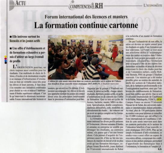 La Formation continue cartonne