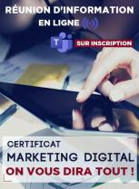 Réunion d'info EN LIGNE sur le Certificat Marketing Digital de HEM