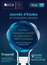 Journée d'Etudes en Innovations Sociales, HEM Business School, Novembre 2017