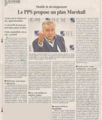 LE PPS propose un plan Marshall