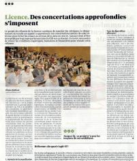 Licence : Des concertations approfondies s'imposent